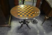 Sale 8134 - Lot 1013 - Edwardian Table with Chess Board Top