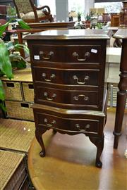 Sale 8147 - Lot 1085 - Serpentine Front Bedside Cabinet Raised on Cabriole Legs