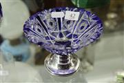 Sale 8226 - Lot 42 - Austro-Hungarian Silver Rimmed Cut Crystal Tazza Circa 1870-1920