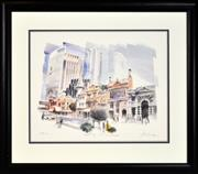 Sale 8325A - Lot 15 - Charles Billich (1934 - ) - Sydney - Old & New 45.5 x 58cm, sheet size