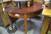Sale 8361 - Lot 1100 - Mahogany Inlaid Fold over Tea Table with Drawer