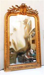 Sale 8362A - Lot 6 - Antique French mid to late 19th Century gilt over mantle mirror, size: 140 x 82 cm