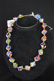 Sale 8396A - Lot 8 - Murano Glass Millefiori Necklace
