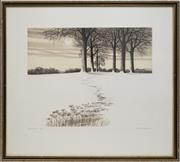 Sale 8699 - Lot 2021 - Kathleen Caddick (1937 - ) - Snow Moon 34 x 44cm