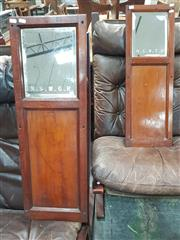 Sale 8872 - Lot 1066 - Vintage Train Carriage Mirrors (2)