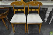 Sale 8284 - Lot 1065 - Pair of French Dining Chairs