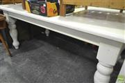 Sale 8284 - Lot 1066 - White Painted Dining Table