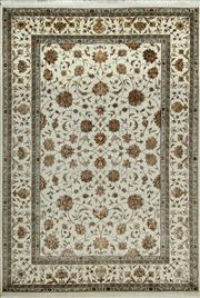 Sale 8379A - Lot 20 - A hand knotted Jaipor silk & wool carpet, 240cm x 166cm