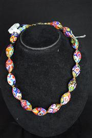 Sale 8396A - Lot 9 - Murano Glass Millefiori Necklace