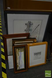 Sale 8537 - Lot 2059 - Collection of Various Artworks Including Original Paintings and Prints, various sizes