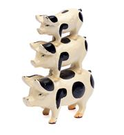 Sale 8586A - Lot 83 - A cast iron model of three graduated pigs, H 18cm