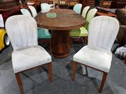 Sale 8765 - Lot 1015 - Art Deco Dining Suite with Table and 8 Shell Back Chairs