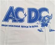 Sale 8960M - Lot 3 - A 1970s AC\DC High Voltage Rock n Roll Tee Shirt together with an AC\DC Bandana and The Angels Tee Shirts (4)