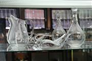 Sale 7953 - Lot 17 - 2 Glass Decanters Rosenthal and Riedel and a Water Jug