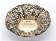 Sale 8269A - Lot 51 - A Speedwell Race commemorative pierced silver dish. Sheffield 1897, diameter 11cm