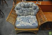 Sale 8326 - Lot 1064 - Split Cane Armchair