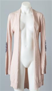 Sale 8661F - Lot 20 - A Lauren Vidal wool blend cardigan with sequined elbow patches, size small