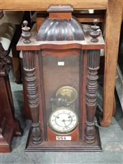 Sale 8740 - Lot 1386 - Timber Cased Wall Clock