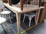 Sale 8934 - Lot 1048 - Recycled Blonde Elm Dining Table (H: 77 L: 220 W: 90cm)