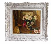 Sale 9040H - Lot 34 - Victor Le Clercq Belgium 1896-1944 - signed, in a heavy French carved frame