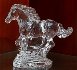 Sale 9155H - Lot 15 - A Waterford crystal running horse figure. Height 16cm