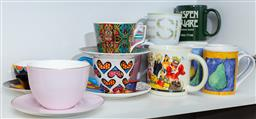 Sale 9165H - Lot 167 - A collection of sundry mugs and trios.