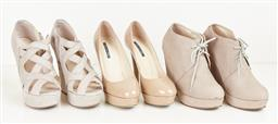 Sale 9095F - Lot 83 - Three pairs of nude Tony Bianco shoes; including two pairs of wedges, and stiletto heels, sizes 7 - 8