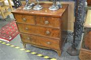 Sale 7981A - Lot 1021 - Regency Mahogany Chest of Four Drawers