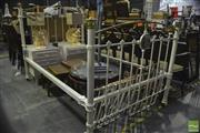 Sale 8305 - Lot 1094 - Cast Iron and Brass Bed