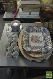 Sale 8407T - Lot 2444 - Japanese Platters with Other Ceramics incl Cup Saucers Combos