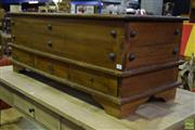 Sale 8566 - Lot 1584 - Studded Timber Lift Top Trunk