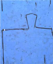 Sale 8254 - Lot 573 - Graham Fransella (1950 - ) - Head on Water (Blue) 121 x 102cm