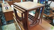 Sale 8383 - Lot 1076 - G-Plan Teak Nest of Three Tables
