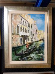 Sale 8671 - Lot 2036 - Artist Unknown - Venice Canal Scene, oil on canvas laid on board, 68.8 x 48.5cm, signed lower right