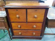 Sale 8774 - Lot 1033 - Late 19th/ Early 20th Century Kauri Pine Chest, of four drawers & with dark highlights