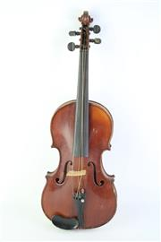 Sale 8823M - Lot 18 - Cased Violin With Bow