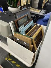 Sale 8995 - Lot 2081 - Box of Pictures and Frames (16)
