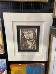Sale 8998 - Lot 2039 - Nigel Gillings Two as One etching 24 x 56cm (frame), signed lower right -