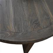 Sale 9010F - Lot 79 - A RECLAIMED ELM HALL TABLE WITH CHARCOAL FINISH HIGHLIGHTING THE GRAIN OF THE TIMBER H:85W:140D:45cm