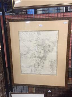 Sale 9135 - Lot 2045 - Antique hand coloured map of New South Wales published by Chapman, 61 x 53cm