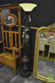 Sale 8305 - Lot 1008 - Large Lady Form Standing Lamp
