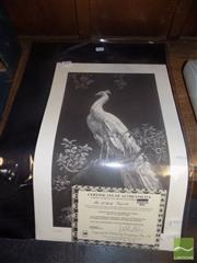 Sale 8483 - Lot 2071 - Lionel Lindsay, Quantity of (10) facsimile etchings, Morning Glory (5) & The White Peacock (5) (each with certificate)