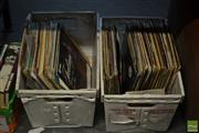 Sale 8548 - Lot 2321 - 2 Boxes of LPs & Singles