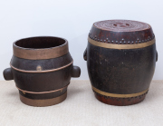 Sale 8677B - Lot 808 - A Chinese lidded food container and one other taller 42cm