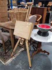 Sale 8889 - Lot 1052 - Timber Easel and Paints