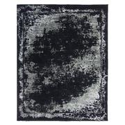 Sale 8913H - Lot 63 - Turkish Woven Border Design in Carpet Black/Silver/Ivory, 240x300cm, Wool & Bamboo Silk