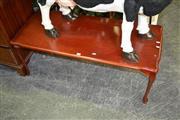 Sale 8115 - Lot 1194 - Shield Top Coffee Table on Cabriole Legs
