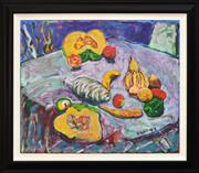 Sale 8309 - Lot 504 - Greg Hind (1952 - 2011) - Encounters with Pumpkins, 1992 75.5 x 90.5cm