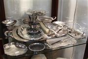 Sale 8306 - Lot 97 - Silver Plated Trays with Other Plated Wares incl Comport
