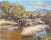 Sale 8459 - Lot 504 - Robert Simpson (1955 - ) - River Shallows, Tharwa, 1983 39.5 x 49.5cm